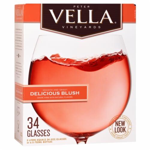 Peter Vella Vineyards Blush Wine Perspective: front