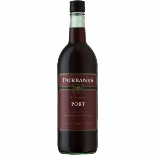 Fairbanks Port Dessert Wine Perspective: front