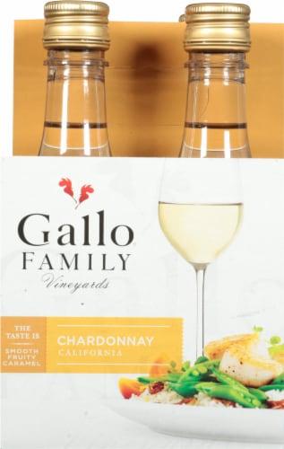 Gallo Family Vineyards Chardonnay White Wine Single Serve Bottles Perspective: front