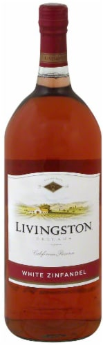 Livingston Cellars White Zinfandel Wine 1.5L Perspective: front