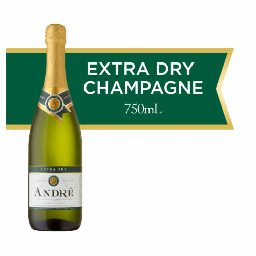 Andre Extra Dry Champagne Sparkling Wine 750ml Perspective: front
