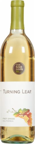 Turning Leaf Vineyards Pinot Grigio White Wine 750ml Perspective: front