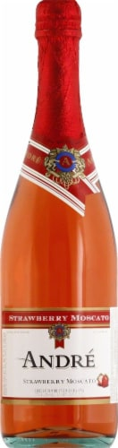 Andre Strawberry Moscato Sparkling Red Wine Perspective: front