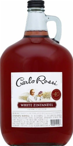 Carlo Rossi White Zinfandel Wine Perspective: front
