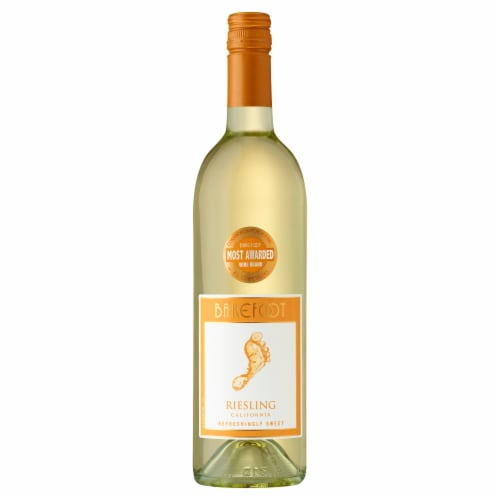 Barefoot Riesling White Wine Perspective: front