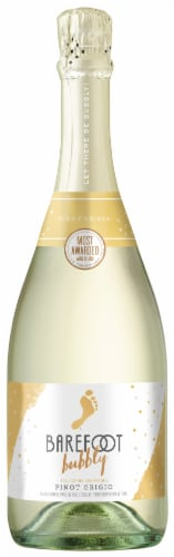 Barefoot Bubbly Champagne Pinot Grigio Perspective: front