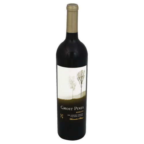 Ghost Pines Merlot Red Wine 750ml Perspective: front