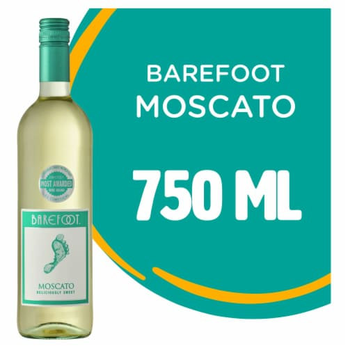 Barefoot Cellars Moscato White Wine 750ml Perspective: front