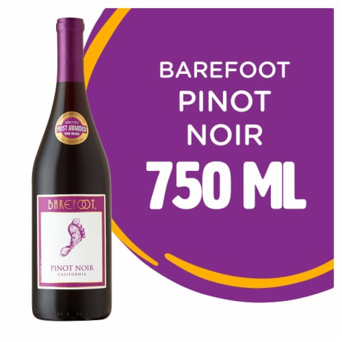 Barefoot Pinot Noir Red Wine Perspective: front