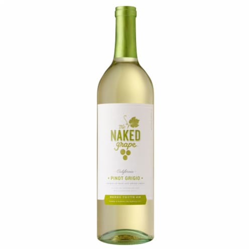 The Naked Grape Pinot Grigio White Wine Perspective: front