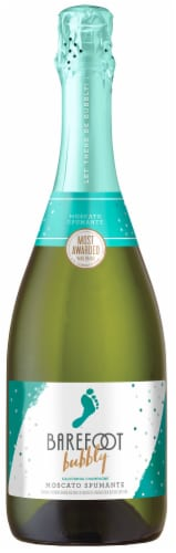 Barefoot Bubbly Moscato Spumante Champagne Sparkling Wine 750ml Perspective: front