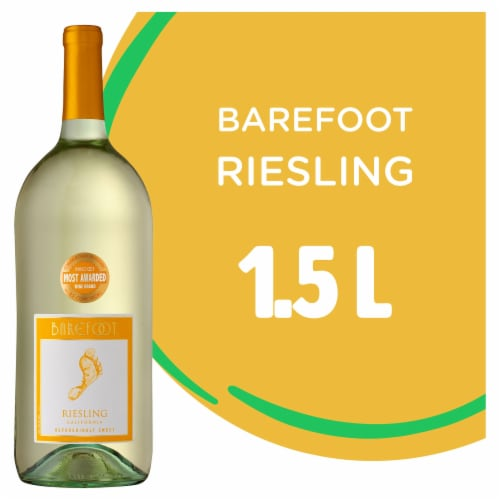 Barefoot Cellars Riesling White Wine 1.5L Perspective: front