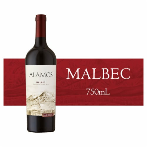 Alamos Malbec Argentina Red Wine 750ml Perspective: front