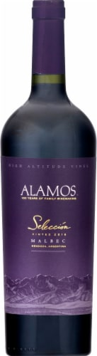 Alamos Seleccion Malbec Argentina Red Wine 750ml Perspective: front
