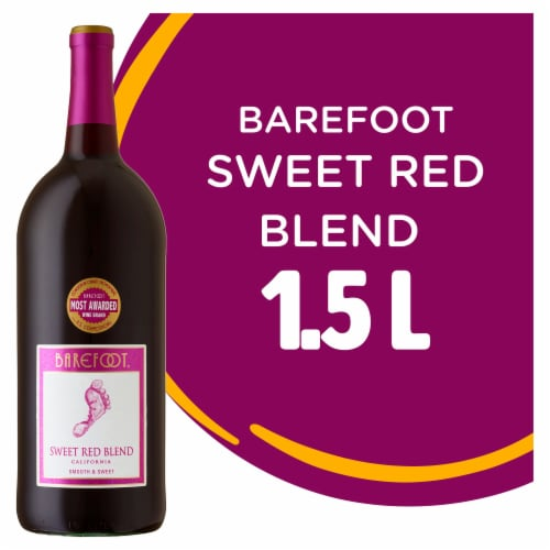 Barefoot Cellars Sweet Red Blend Red Wine 1.5L Perspective: front