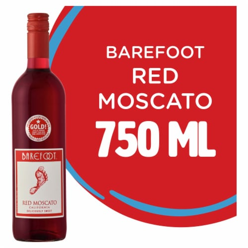Barefoot Red Moscato Red Wine Perspective: front