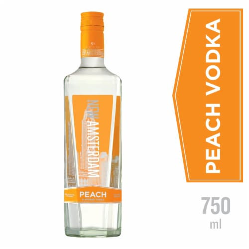 New Amsterdam Peach Flavored Vodka Perspective: front