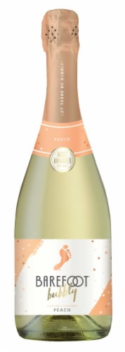 Barefoot Bubbly Peach Sparkling Wine 750ml Perspective: front
