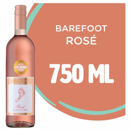 Barefoot Cellars Rose Wine 750ml Perspective: front