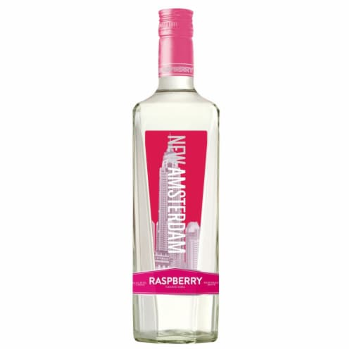New Amsterdam Raspberry Flavored Vodka Perspective: front