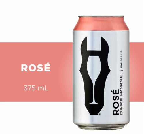 Dark Horse Can Rose Wine Perspective: front