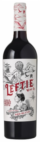 Leftie Red Blend Wine 750ml Perspective: front