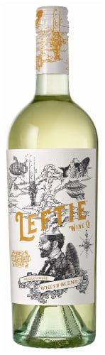 Leftie White Blend Wine 750ml Perspective: front