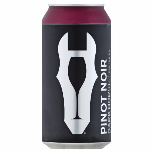 Dark Horse Pinot Noir Red Wine Can Perspective: front