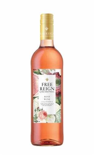 Free Reign Rose Wine Perspective: front