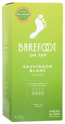 Barefoot On Tap Sauvignon Blanc Box Wine Perspective: front