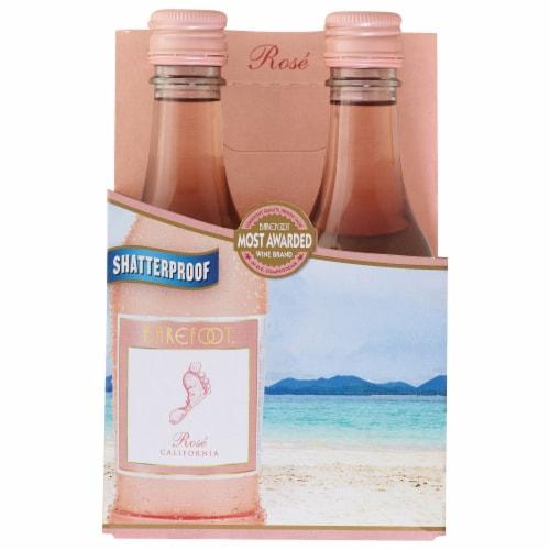 Barefoot Rose Wine Single Serve Bottles Perspective: front