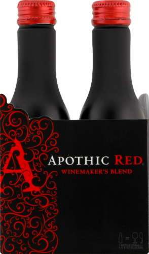 Apothic Red Blend Red Wine 2 pack of 250ml Aluminum Bottles Perspective: front
