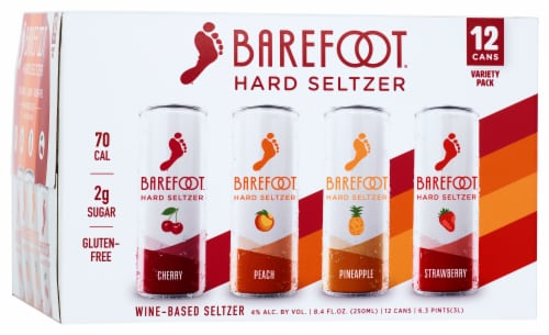 Barefoot Hard Wine-Based Seltzers Variety Pack Perspective: front