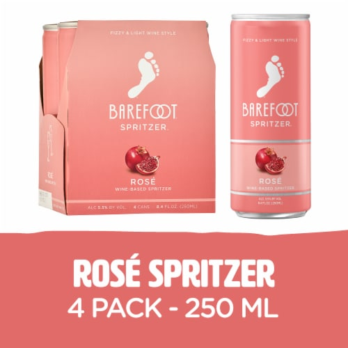 Barefoot Spritzer Rose Wine Perspective: front
