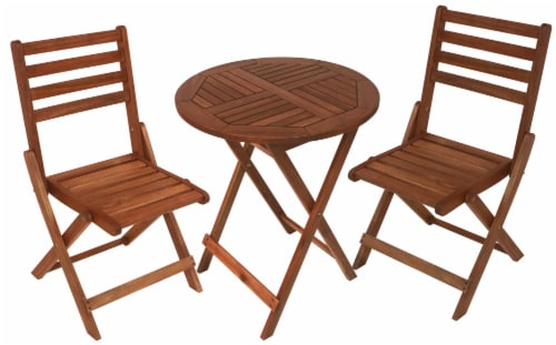Leigh Country Sequoia Bistro Set - Brown Perspective: front