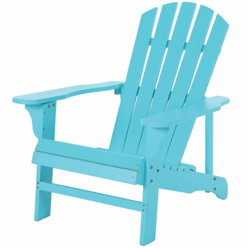 Leigh Country Adirondack Chair - Turquoise Perspective: front