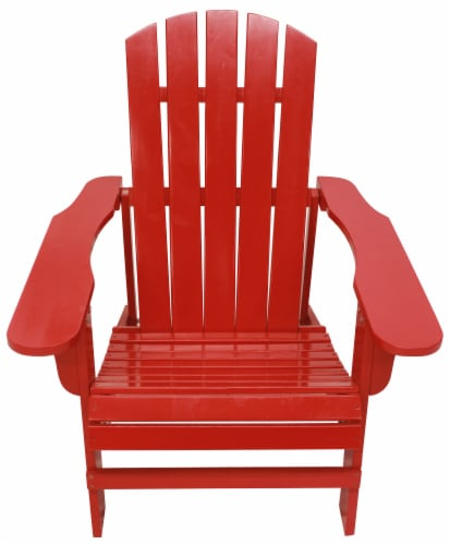 Leigh Country Classic Adirondack Chair - Red Perspective: front