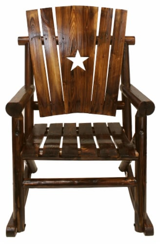 Leigh Country Char-Log Single Rocker with Star Cutout Perspective: front