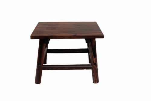Leigh Country Char-Log Rectangular End Table - Brown Perspective: front
