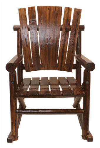 Leigh Country Char-log Single Rocker - Brown Perspective: front