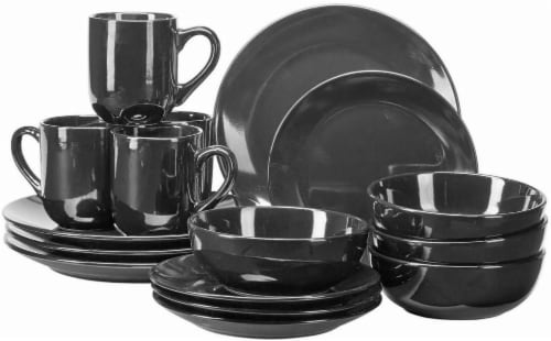 HD Designs Simplicity Dinnerware Set - 16 Piece - Black Perspective front  sc 1 th 177 & King Soopers - HD Designs Simplicity Dinnerware Set - 16 Piece - Black