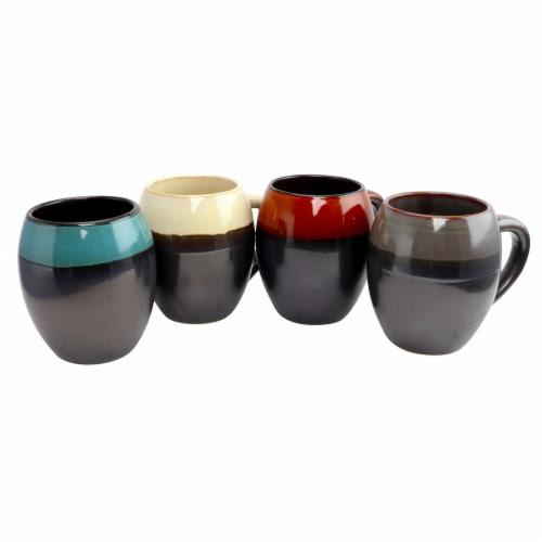 Gibson Home 4 Piece 19.5 oz Soroca Mug Set, Assorted Colors Perspective: front
