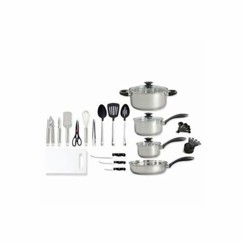 Gibson Total Kitchen Cookware Set Perspective: front