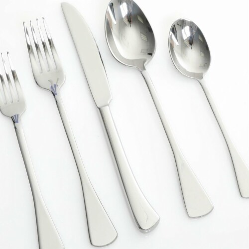 Gibson Silver Flatware Mirror Finish - 20 Piece Perspective: front