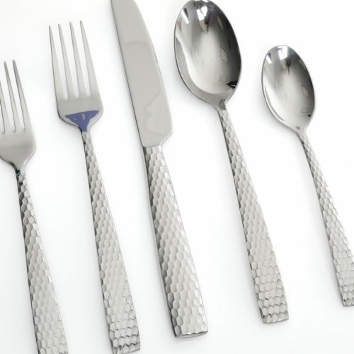Gibson 94228.2 Silver Braid Flatware - 20 Piece Perspective: front