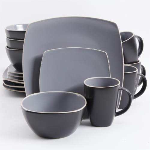 Gibson Home Soho Lounge Matte Dinnerware Set Perspective: front