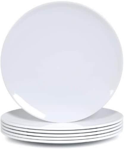 Gibson MST Splash Blue Melamine Dinner Plate Perspective: front