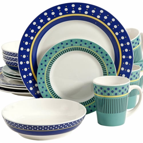 Gibson 105972.16 Lockhart Dinnerware Set, 16 Piece Perspective: front