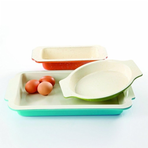 Gibson 108153.03 Ceramic Bakeware Set, 3 Piece Perspective: front