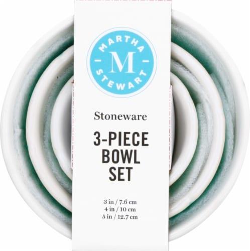 Martha Stewart Epherma Nesting Prep Bowl Set - Blue Perspective: front
